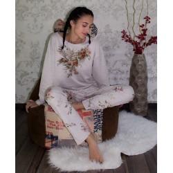 Дамска пижама - Цветя меланж